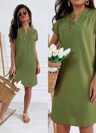 Платье туника лен 46-56 р-р