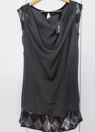 Шикарное стильное/сатиновое платье свободного кроя kor@kor р. 44-46-48 (м)