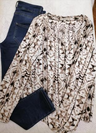 Стильная блузка comma рубашка вискоза