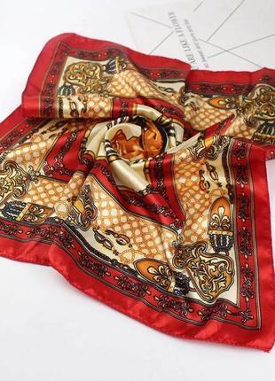 Шёлковый платок шарф шаль маска ободок твилли обруч резинка на сумку голову шею руку
