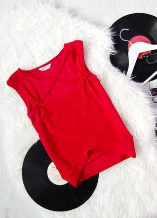 Красный топ с перехресными шлейками    atmosphere  