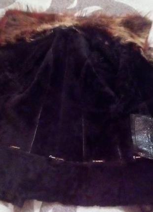 Натуральная дубленка с перламутровым напылением/шуба/пальто/куртка/пуховик/дубленка/шапка/юбка/джинс10 фото