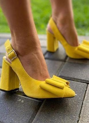 Туфли бант