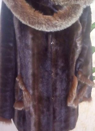 Норковая шуба отделка песцом/ шуба/ шубка/ полушубок/ шуба норка/шуба песец/пуховик/куртка/юбка/джин8 фото