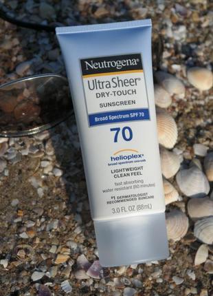 Ultra sheer, не оставляющий следов солнцезащитный крем с spf70+, neutrogena, лосьон гель