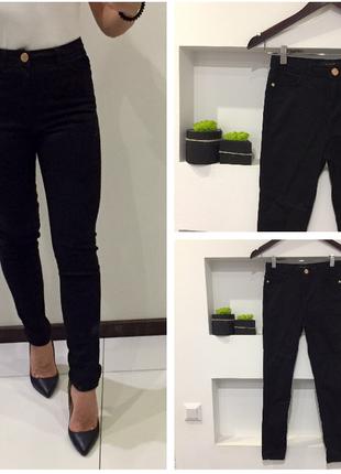 Крутые черные джинсы / черные штаны river island skinny скинни