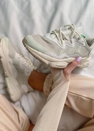 Женские кроссовки adidas ozweego clear brown white