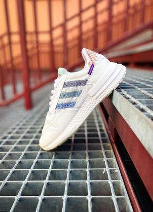 Женские кроссовки adidas zx 500 rm белые /жіночі кросівки білі знижка4 фото