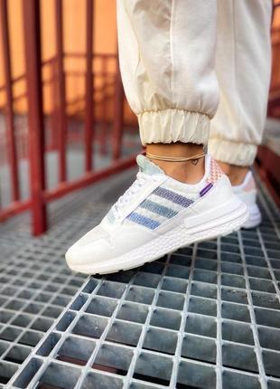 Женские кроссовки adidas zx 500 rm белые /жіночі кросівки білі знижка7 фото