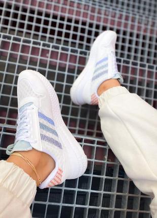 Женские кроссовки adidas zx 500 rm белые /жіночі кросівки білі знижка5 фото