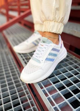 Женские кроссовки adidas zx 500 rm белые /жіночі кросівки білі знижка6 фото
