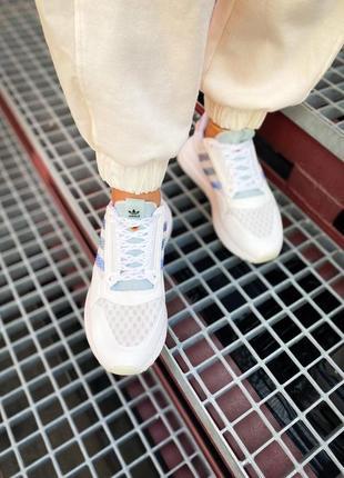 Женские кроссовки adidas zx 500 rm белые /жіночі кросівки білі знижка3 фото