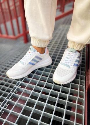 Женские кроссовки adidas zx 500 rm белые /жіночі кросівки білі знижка2 фото