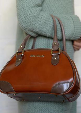 0b59b8d22167 Кожанная итальянская сумка бренда gilda tonelli Gilda Tohetti, цена ...