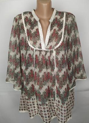 Блуза красивая в принт огурцы большого размера uk 24/52/5xl