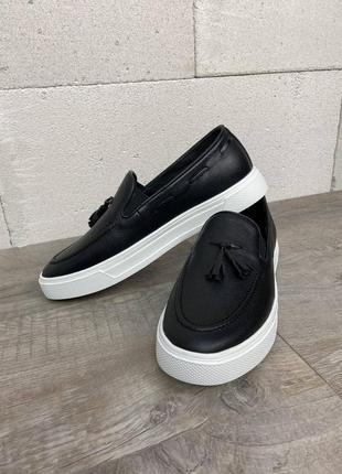Туфлі лофери кожа