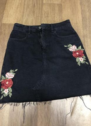 Юбка джинсовая, с крутым принтом🔥 заходите в мой магазин, много скидок!