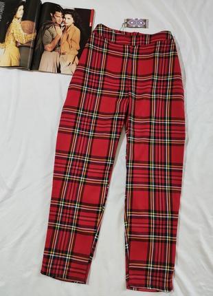 Boohoo легкие новые брюки в клетку uk 14 eur 42