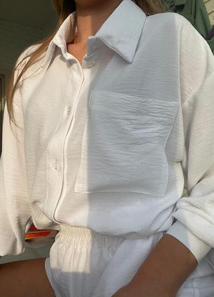Летний костюм жатка рубашка и шорты