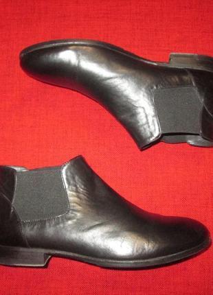Кожаные ботинки челси pantanetti италия р. 37.5 - 38