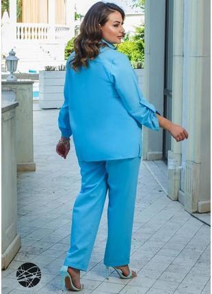 Лляний костюм з сорочки і брюк2 фото