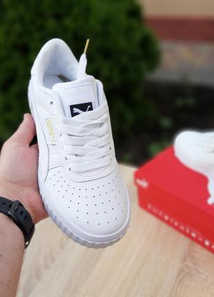 Женские кроссовки puma cali белые4 фото