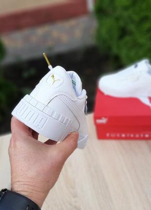 Женские кроссовки puma cali белые3 фото