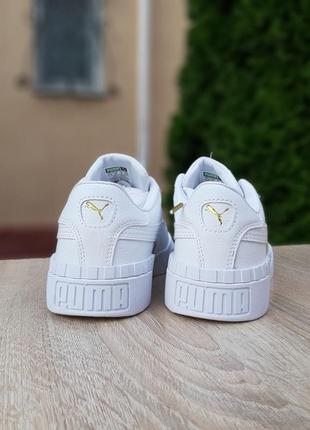 Женские кроссовки puma cali белые9 фото