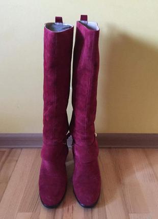 Сапоги mario muzi (кожа) осень, на утеплённой подкладке