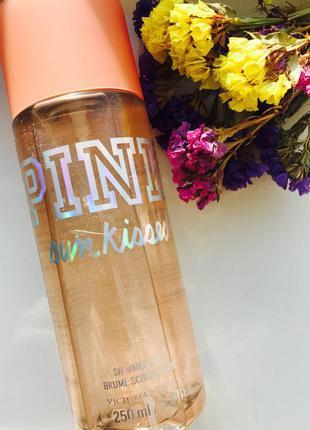 Парфюмированный спрей для тела victorias secret pink с блестками