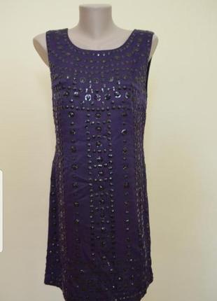 Шикарное вечернее коктейльное платье с вышивкой french connection