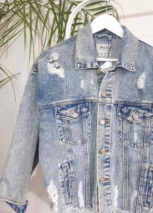 Джинсовка в винтажном стиле. джинсовая курточка. джинсовая курточка оверсайз