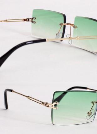 Окуляри прямокутні без оправи (очки прямоугольные)2 фото