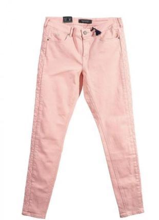 Розовые джинсы скинни maison scotch 27 размер