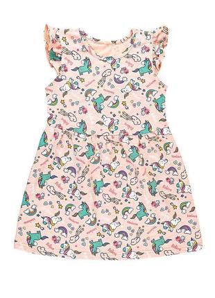 Платье с единорогами на возраст 2-8 лет