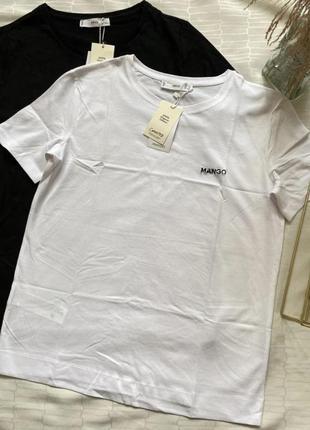 Стильна базова футболка mango! супер якість!
