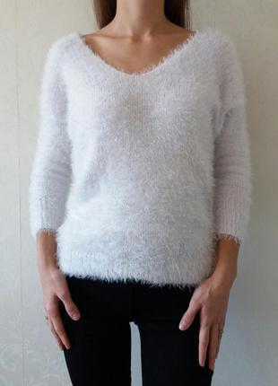 Женский свитер,свитер травка,белый свитер,свитер,теплый свитер