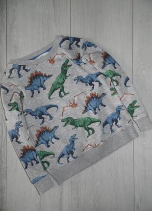 Свитшот в динозаврах h&m 2-4г