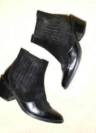 Чёрные   ковбойские ботинки казаки  western boots  от kurt geiger ♥