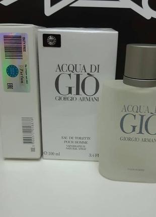 Мужская туалетная вода armani acqua di gio men 100 мл