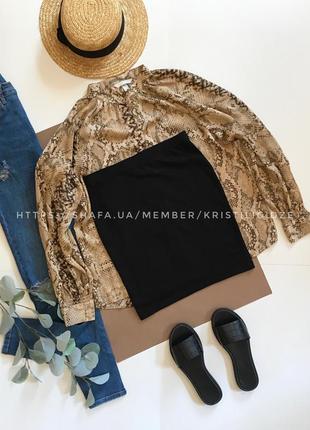 Чёрная мини юбка стрейч h&m р.s. распродажа