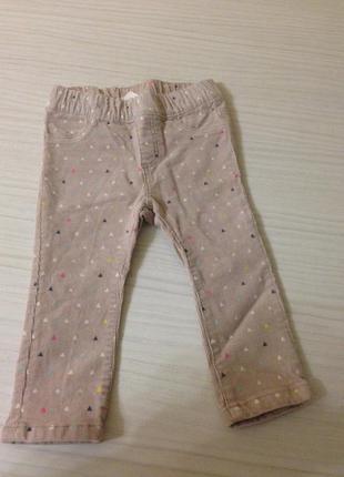 Вельветовые бежевые штанишки h&m