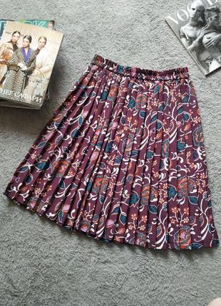 Супер юбка плиссе гофре миди