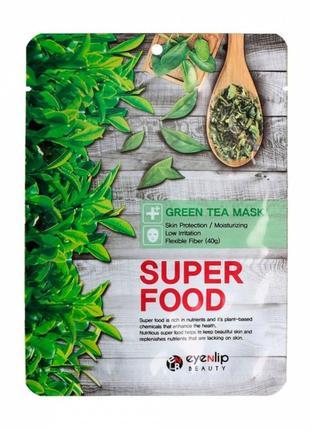 Тканевая маска зелёный чай.