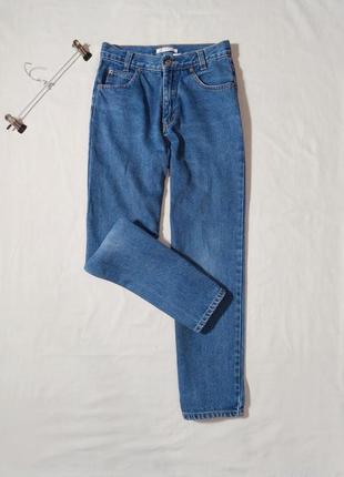 50.11 синие джинсы мом