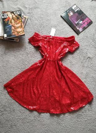 Платье в пайетки для особых случаев нарядное
