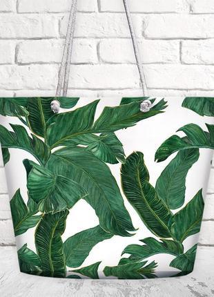 Пляжная сумка malibu листья (mal_20j002)