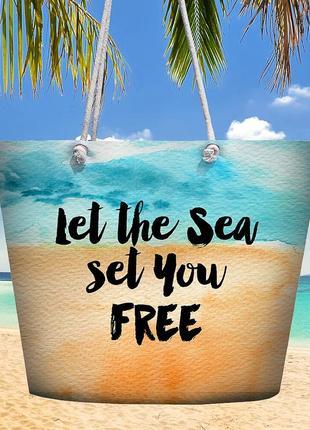 Пляжная сумка malibu let the sea set you free (mal_20j004)