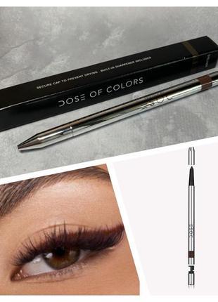 Стойкий карандаш-подводка для глаз dose of colors  оттенок sketch