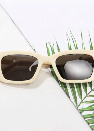 Белые очки, очки gentle monster, очки молочного цвета, очки в пластиковой оправе, летние очки, очки в белой оправе